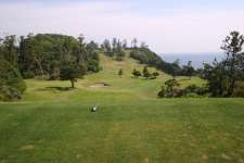 Par three 5th on the Fuji Course