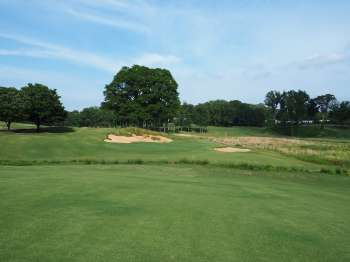Approaching the 12th green at Old Town Club