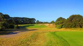 Royal Melbourne West 18th tee shot