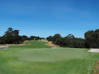 Royal Melbourne 6 West - View from behind green