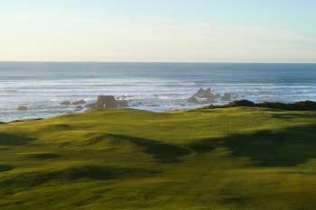 Green at the par three 5th. Photo courtesy of Bandon Dunes Resort