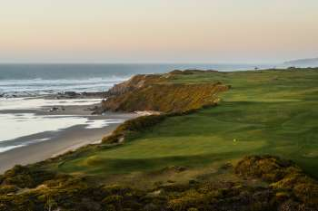View from behind the 7th green. Photo courtesy of Bandon Dunes Resort